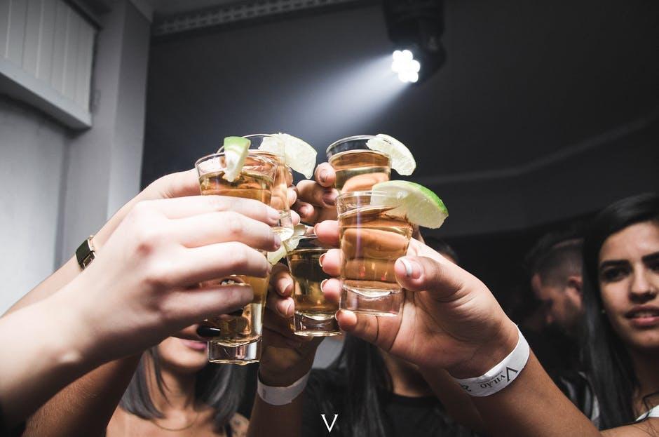 People-enjoying-tequila-shots